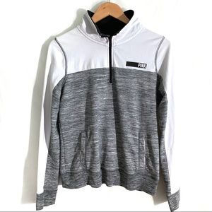 VS PINK Quarter Zip Pullover Sweatshirt | Size Sm